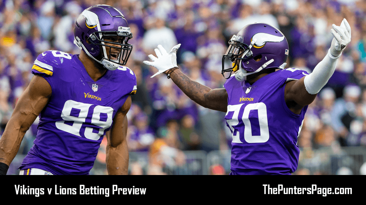 Minnesota Vikings v Detroit Lions Betting Preview, Odds & Tips