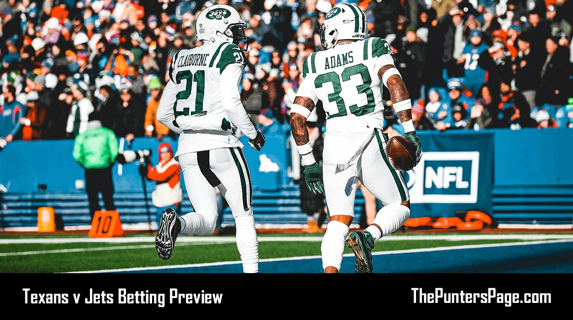 Texans v Jets Betting Preview, Odds & Tips