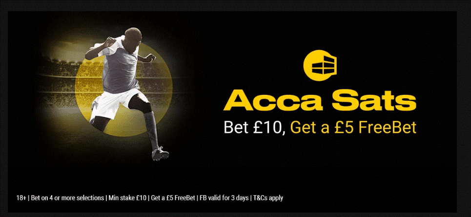 'Acca Sats' banner as advertised on bwin's site