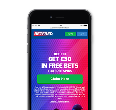Betfred offer October 2021