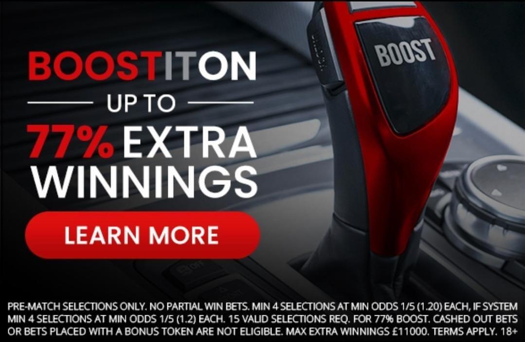 'Boostiton' Acca bonus banner as shown on Betiton's site