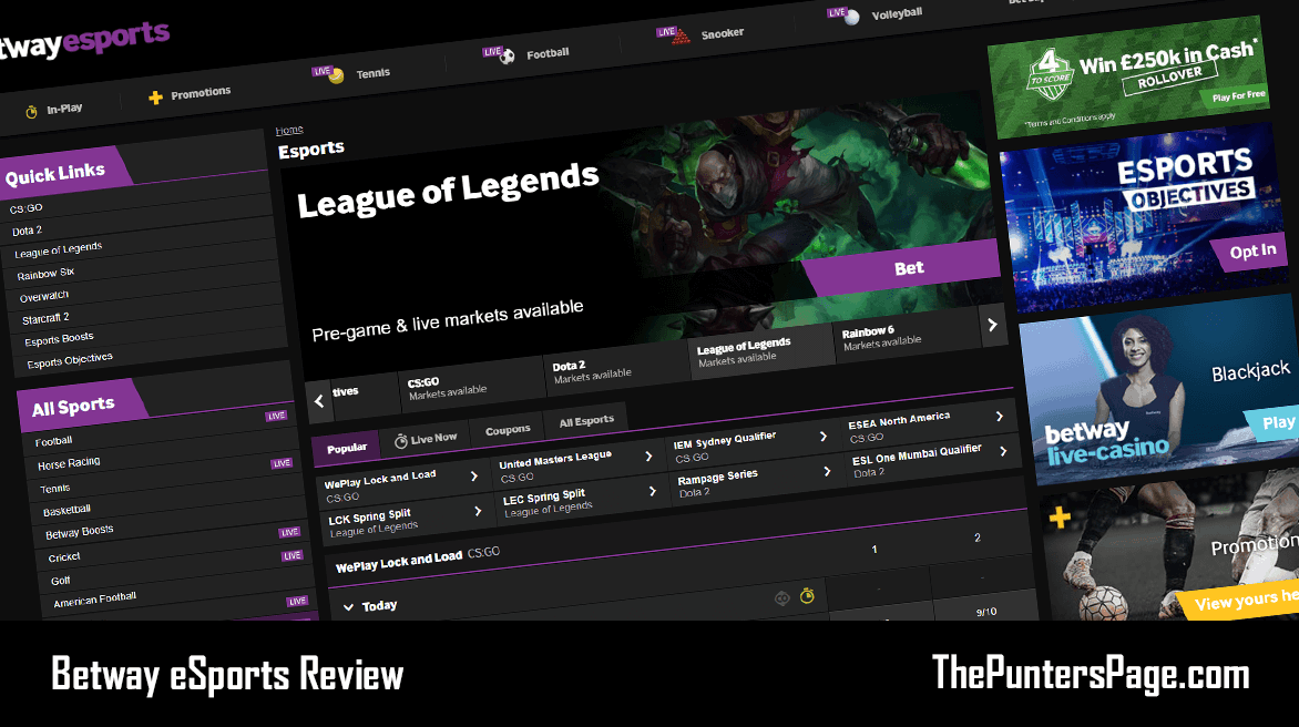 Betway eSports Review