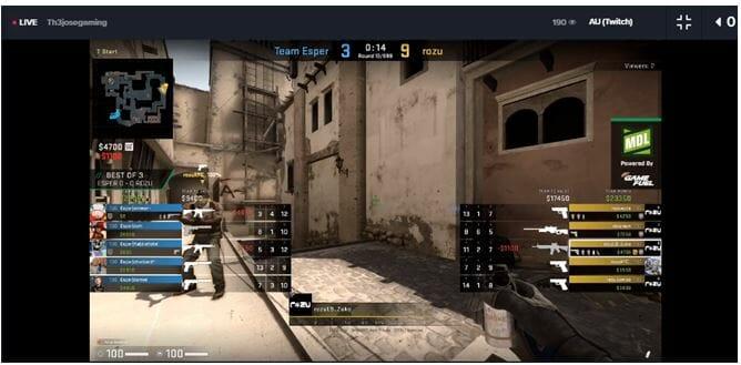 Counter Strike: Global Offensive match underway