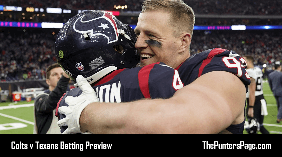 Indianapolis Colts v Houston Texans Betting Preview, Odds & Tips