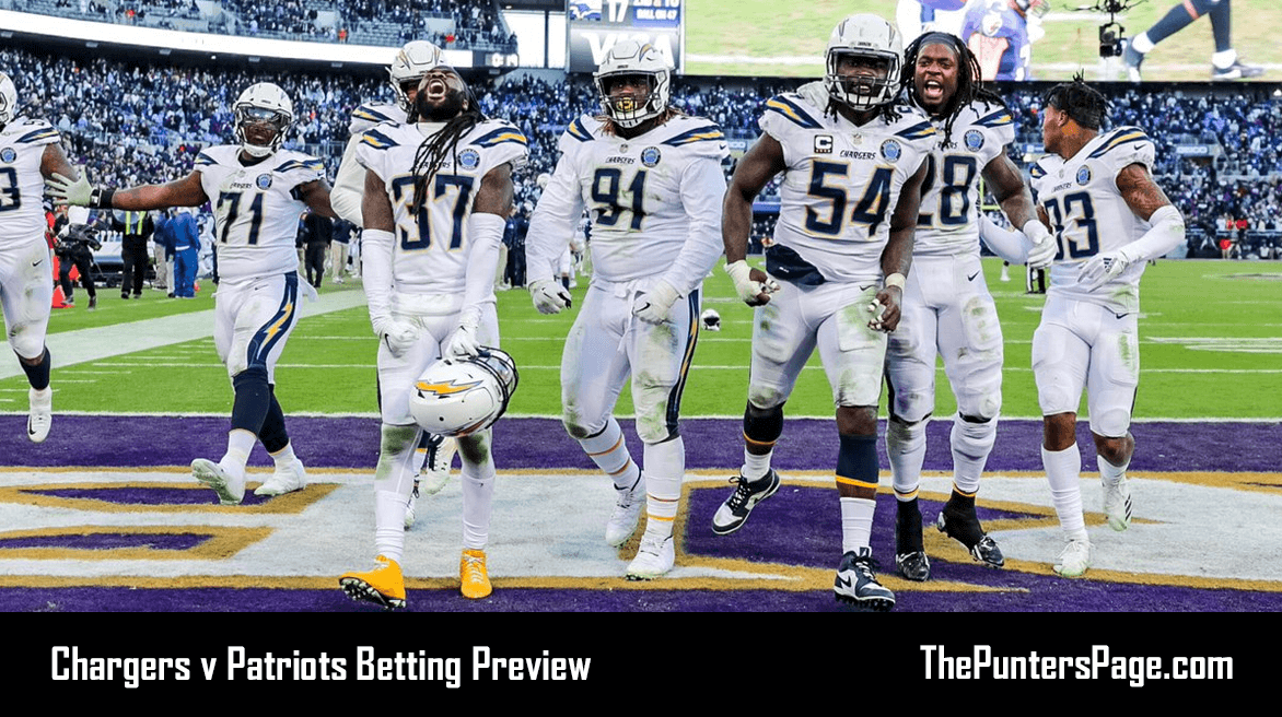 Los Angeles Chargers v New England Patriots Betting Preview, Odds & Tips