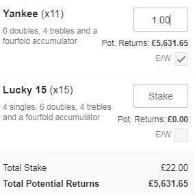 Yankee Betting