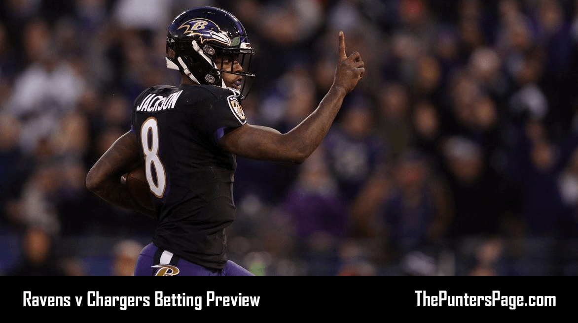 Ravens v Chargers Betting Preview, Odds & Tips