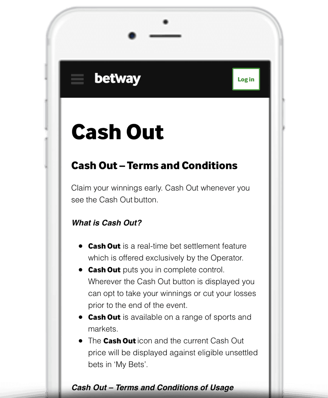 What Is Betway Cash Out?