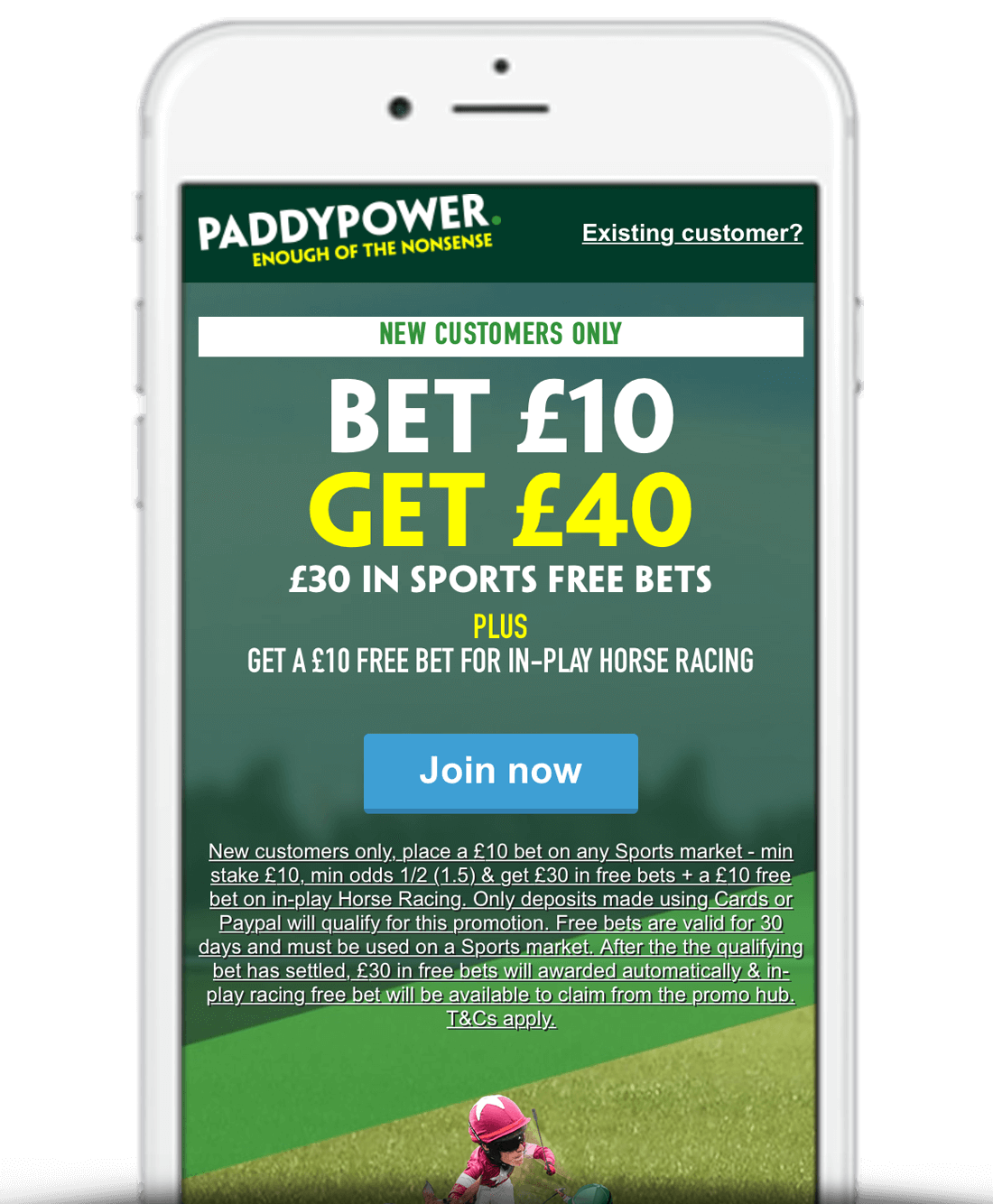 What Is The Paddy Power Bet £10 Get £40 Offer?