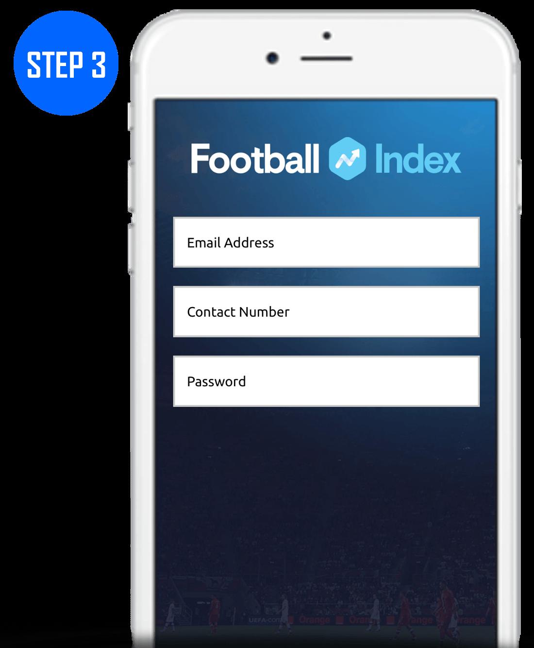 Football Index Sign Up Process Step 3