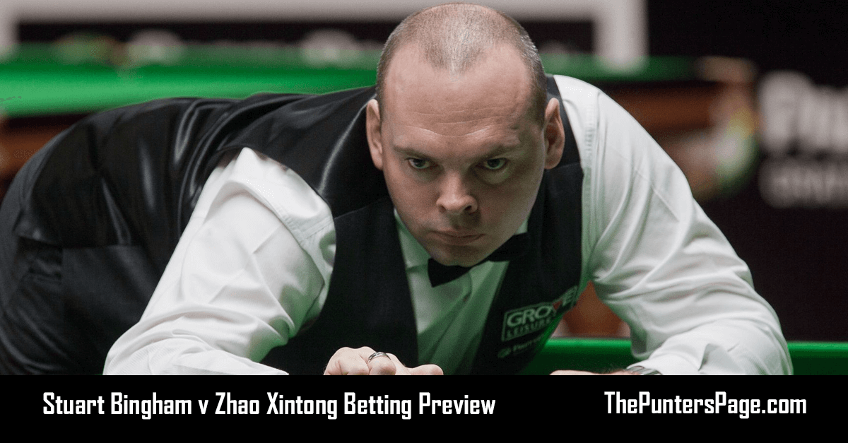 Stuart Bingham v Zhao Xintong Betting Preview, Odds & Tips