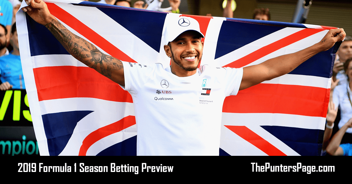 2019 Formula 1 Season Betting Preview, Odds & Tips