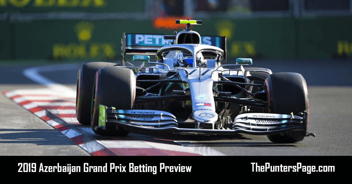 2019 Azerbaijan Grand Prix Betting Preview, Odds & Tips
