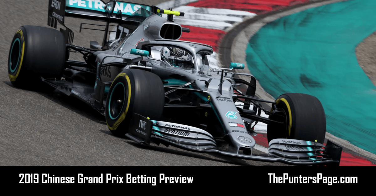 2019 Chinese Grand Prix Betting Preview, Odds & Tips