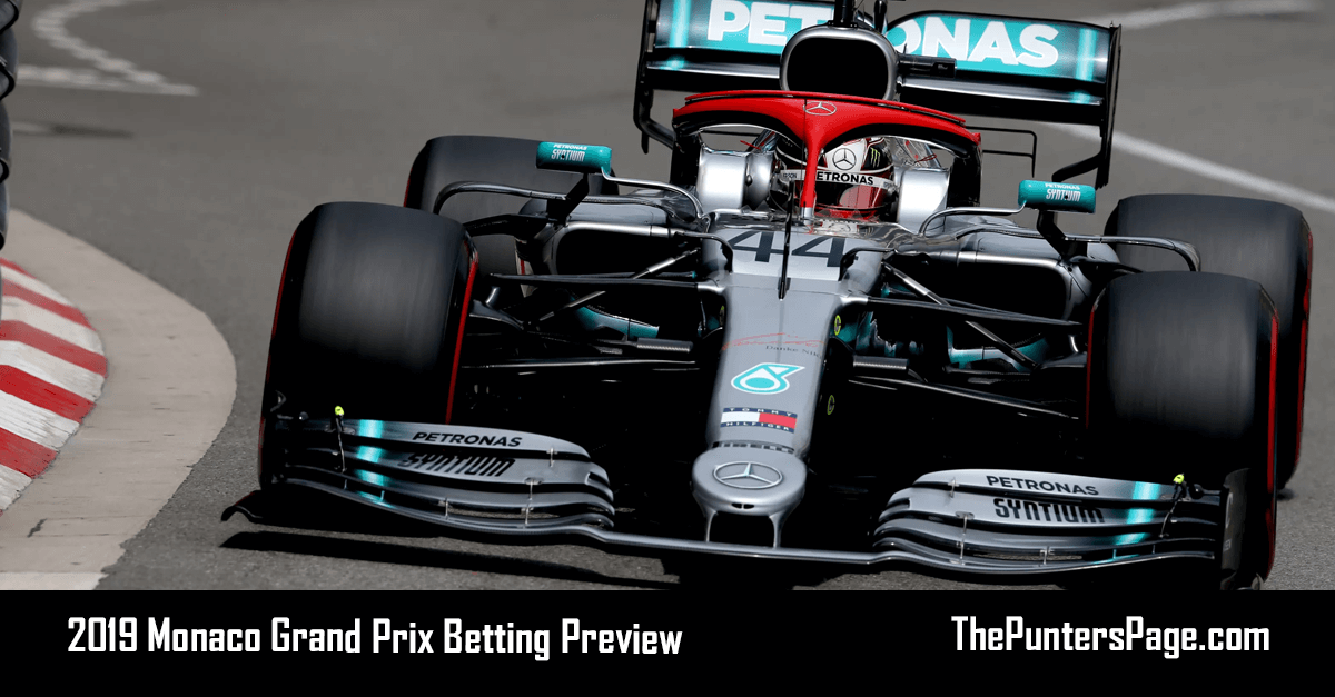 2019 Monaco Grand Prix Betting Preview, Odds And Tips