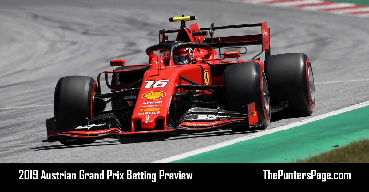 2019 Austrian Grand Prix Betting Preview, Odds & Tips