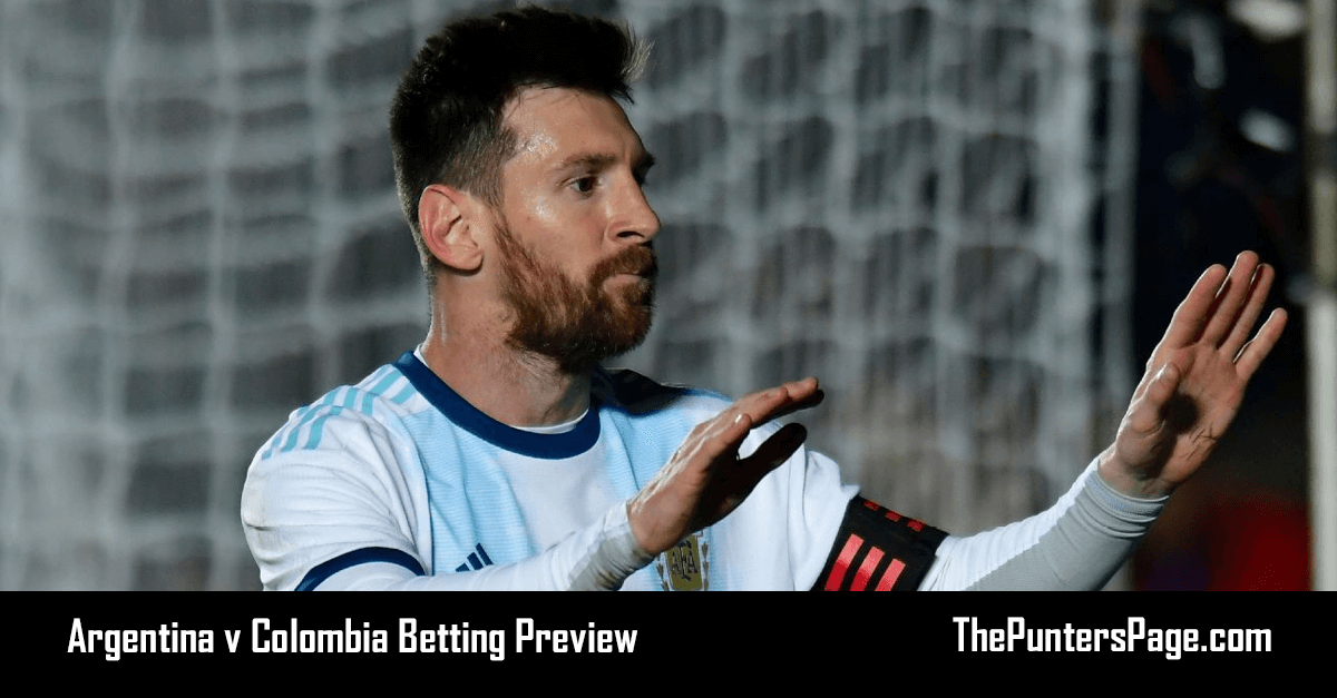 Argentina v Colombia Betting Preview, Odds & Tips