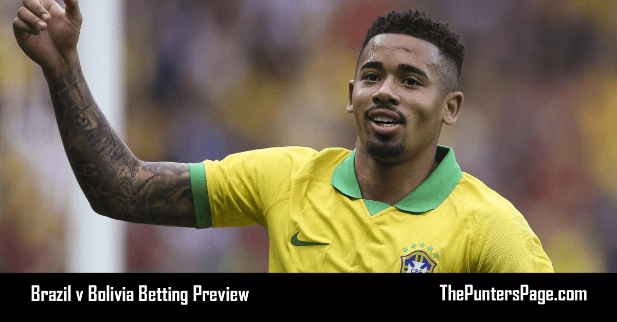 Brazil v Bolivia Betting Preview, Odds & Tips