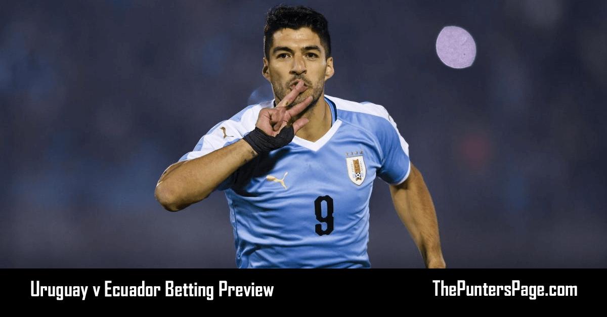Uruguay v Ecuador Betting Preview, Odds & Tips