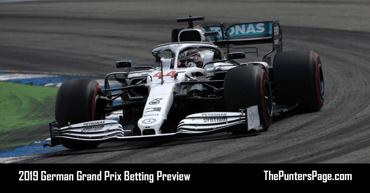2019 German Grand Prix Betting Preview, Odds & Tips