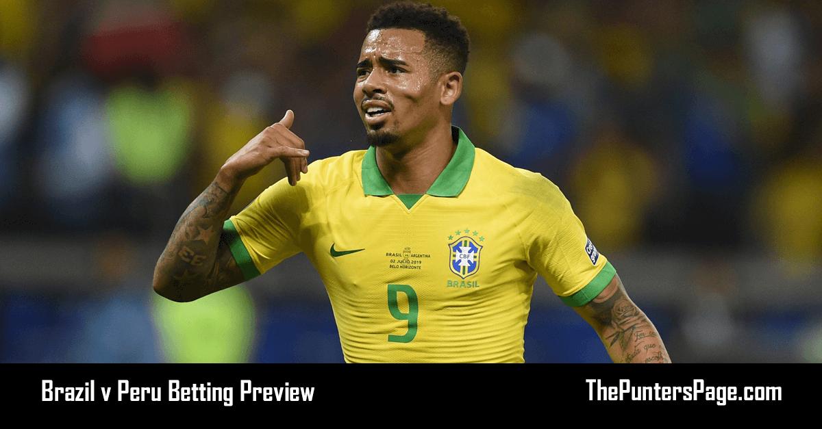Brazil v Peru Betting Preview, Odds & Tips