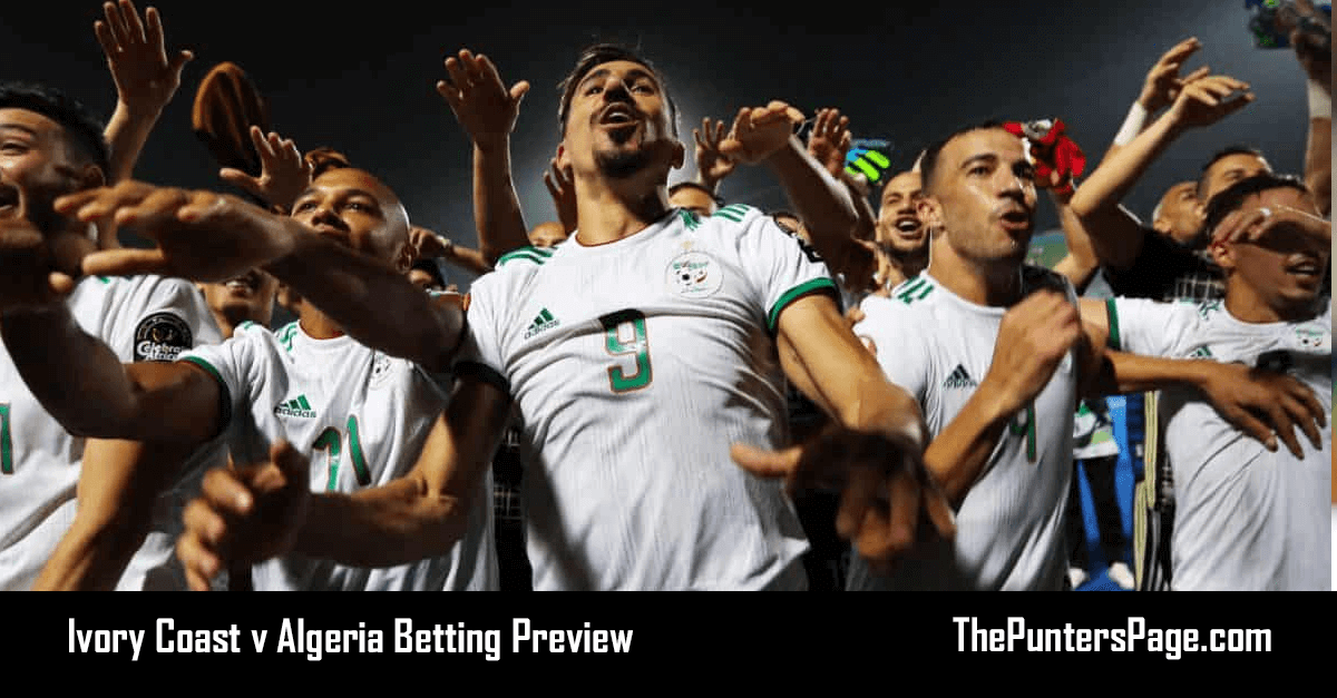 Ivory Coast v Algeria Betting Preview, Odds & Tips