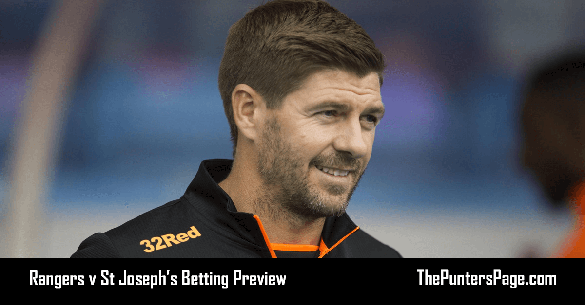 Rangers v St Joseph's Betting Preview, Odds & Tips