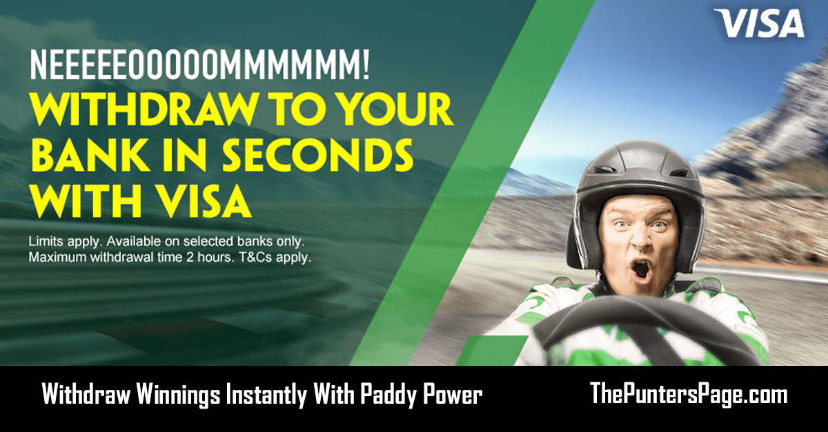 Withdraw Your Winnings To Your Bank Instantly With Paddy Power