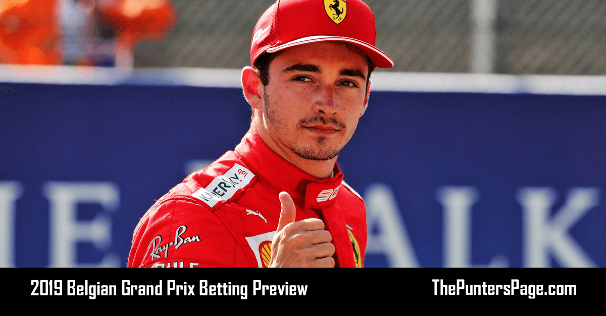2019 Belgian Grand Prix Betting Preview, Odds & Tips