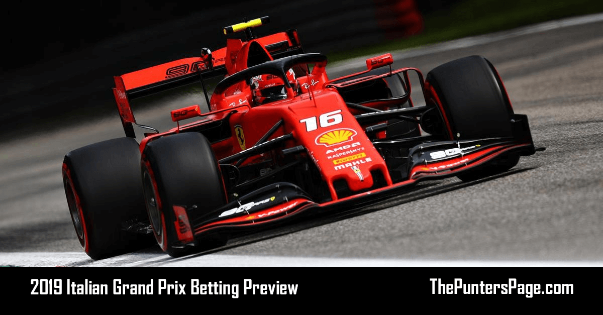 2019 Italian Grand Prix Betting Preview, Odds & Tips