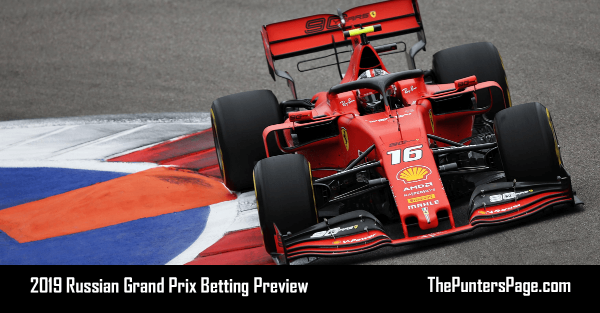 2019 Russian Grand Prix Betting Preview, Odds & Tips