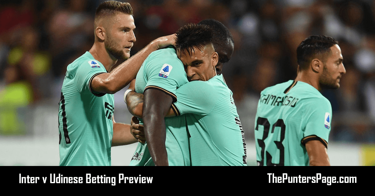 Inter v Udinese Betting Preview, Odds & Tips