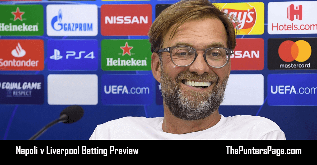 Napoli v Liverpool Betting Preview, Odds & Tips