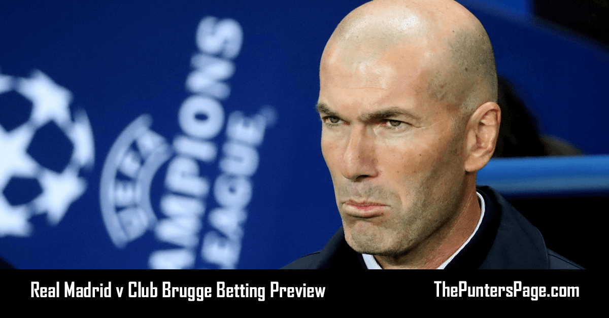 Real Madrid v Club Brugge Betting Preview, Odds & Tips