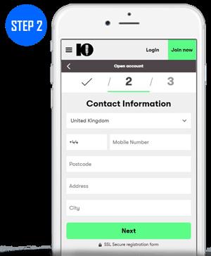 10Bet Mobile App Sign Up Step 2