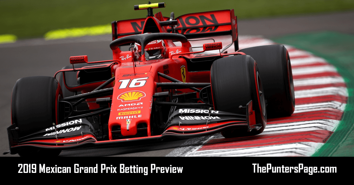 2019 Mexican Grand Prix Betting Preview, Odds & Tips