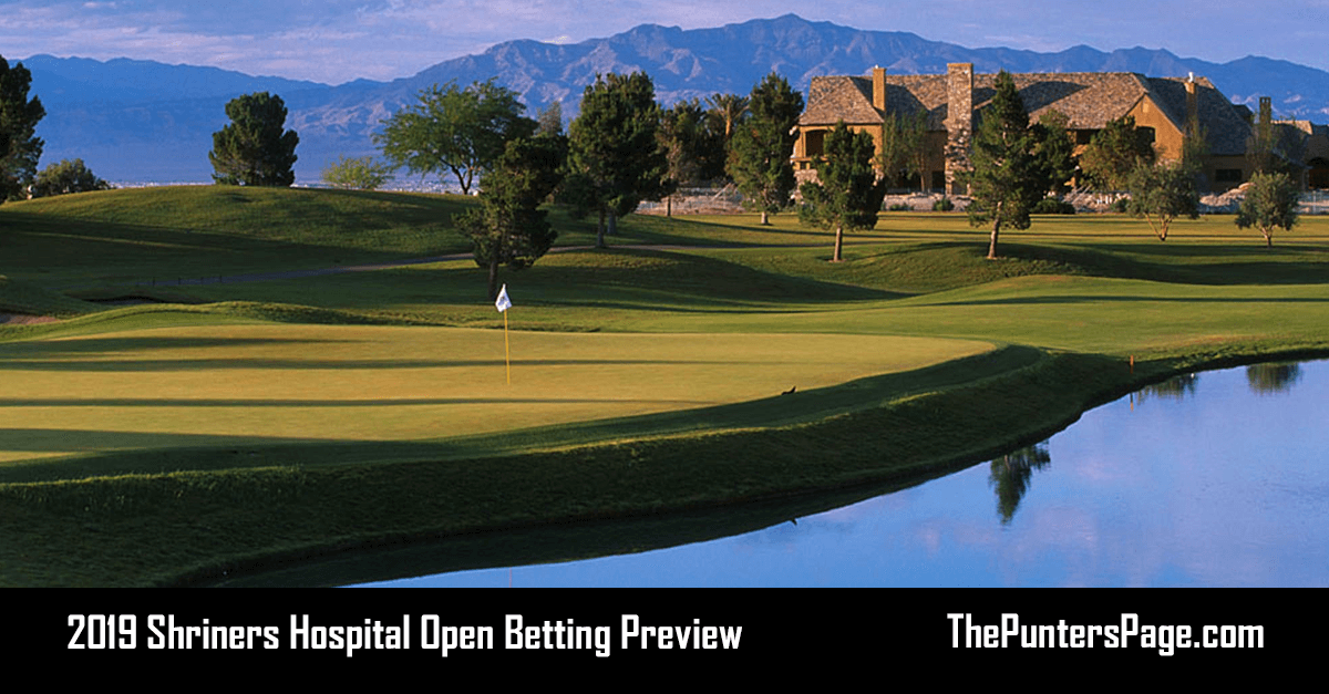 2019 Shriners Hospital Open Betting Preview, Odds & Tips
