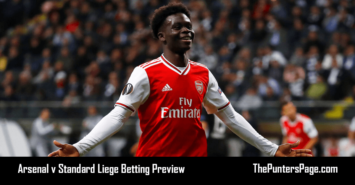 Arsenal v Standard Liege Betting Preview, Odds & Tips
