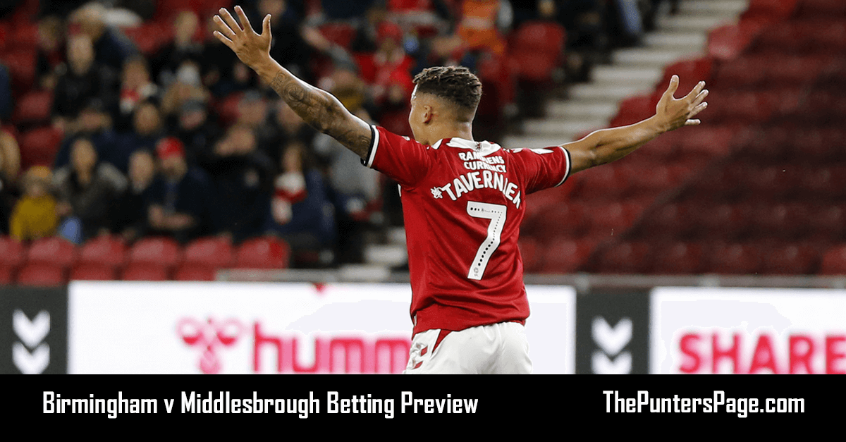 Birmingham v Middlesbrough Betting Preview, Odds & Tips