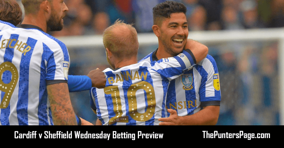 Cardiff v Sheffield Wednesday Betting Preview, Odds & Tips