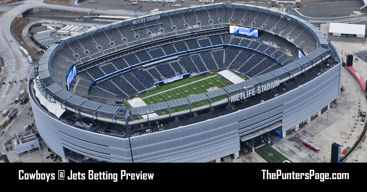 Cowboys @ Jets Betting Preview, Odds & Tips