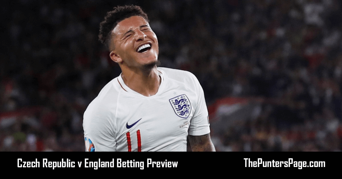 Czech Republic v England Betting Preview, Odds & Tips