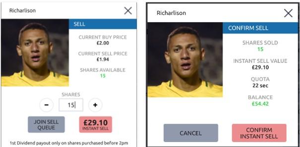 Richarlison Sell Price - Football Index