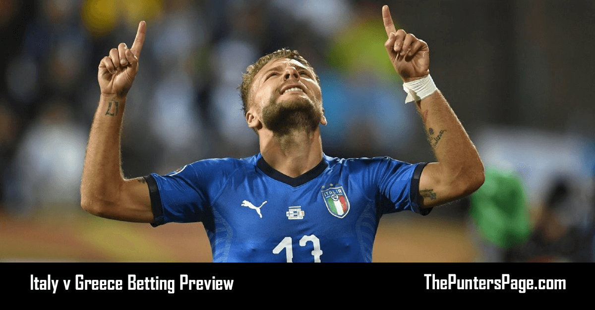 Italy v Greece Betting Preview, Odds & Tips