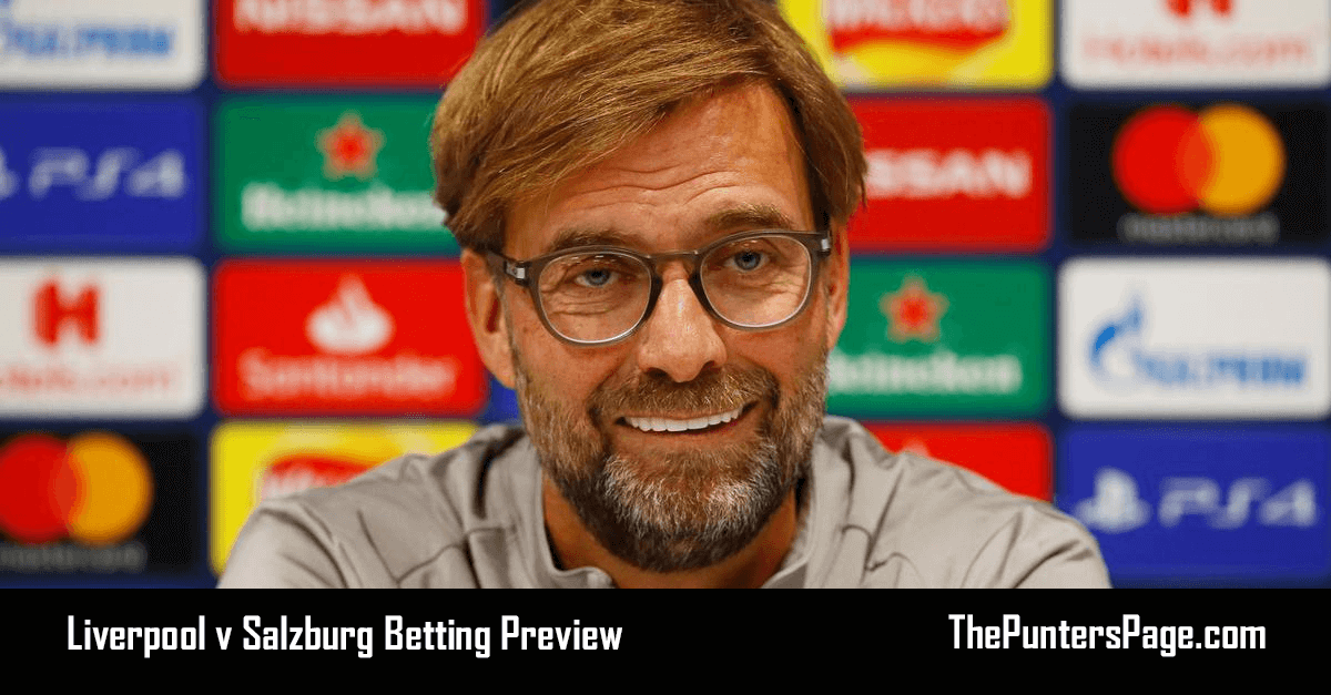 Liverpool v Salzburg Betting Preview, Odds & Tips