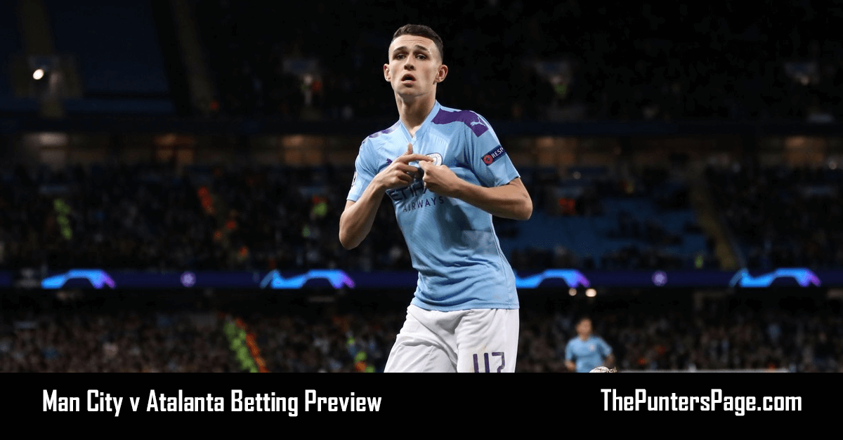 Man City v Atalanta Betting Preview, Odds & Tips