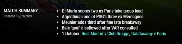 Match Summary from uefa.com