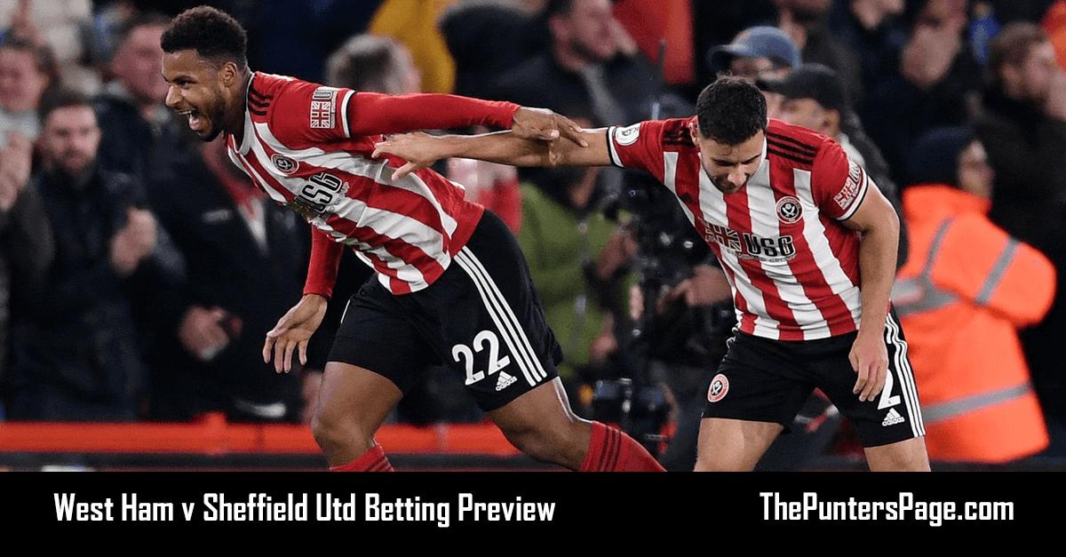 West Ham v Sheffield Utd Betting Preview, Odds & Tips