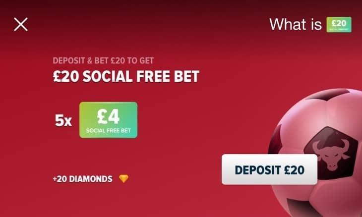 BetBull Social Free Bet £20