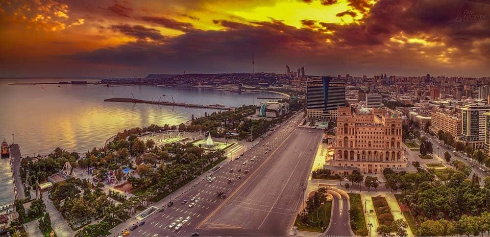 Azerbaijan Sunset City